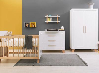 Bopita Lisa 3 delige babykamer wit/naturel