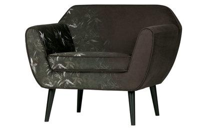 Woood Rocco fauteuil fluweel bamboe print