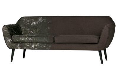 Woood Rocco 2 zits sofa bankje fluweel bamboe print