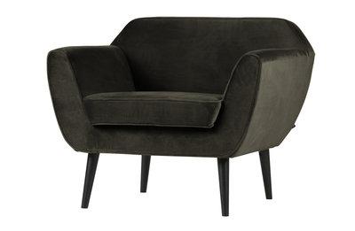 Woood Rocco fauteuil fluweel warm groen