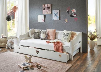Relita Elsa bedlade 90x190 beuken wit (excl bed)