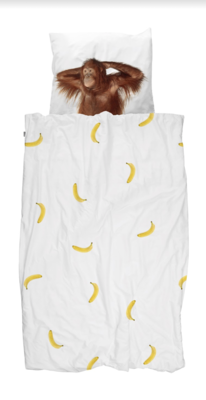 Snurk dekbedovertrek 1-persoons 140 x 200  Banana Monkey
