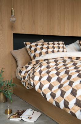 Snurk dekbedovertrek twijfelaar 200 x 200 wooden cubes