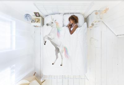 Snurk dekbedovertrek twijfelaar 200 x 200 Unicorn