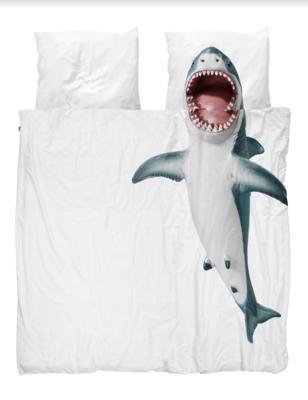 Snurk dekbedovertrek twijfelaar 200 x 200 Shark