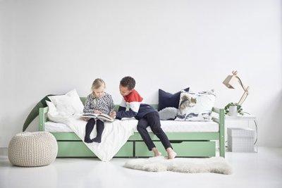 Hoppekids Basic sofabed 90x200 pastel groen