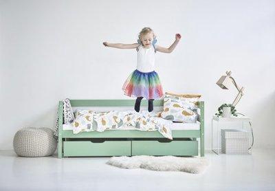 Hoppekids Ida Marie junior bed 70x160 grenen pastel groen