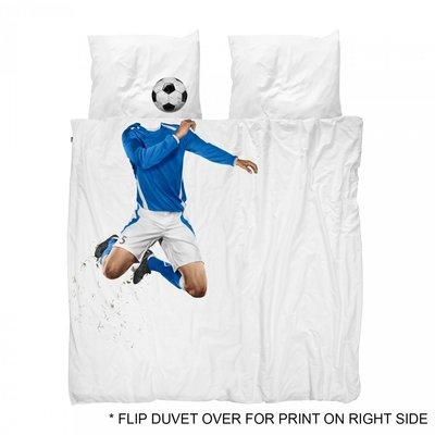 Snurk dekbedovertrek twijfelaar 200x200 soccer blauw