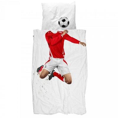 snurk dekbedovertrek junior 120x150 Soccer red