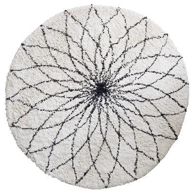 Kidsdepot flower power vloerkleed Ø110 cm