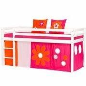 Hoppekids Flower Tent voor junior 70x160 halfhoogslaper roze