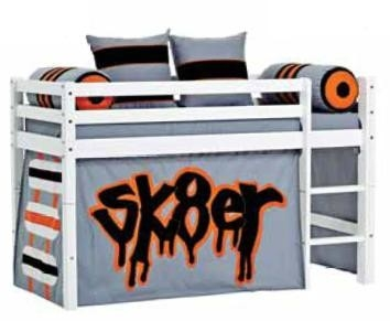 Hoppekids Skater tent voor 90x200 halfhoogslaper