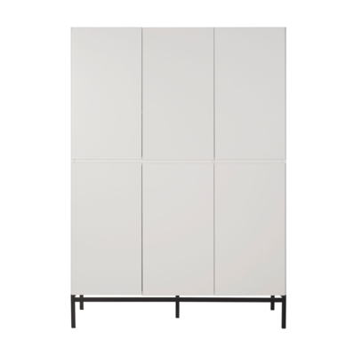 Quax havana kledingkast 6 deuren wit/zwart