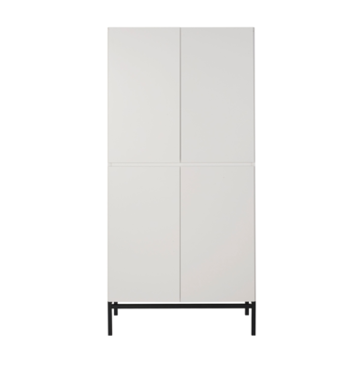 Quax havana kledingkast 4 deuren wit/zwart
