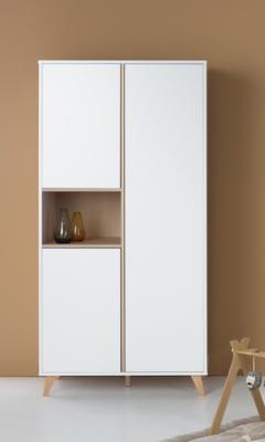 Quax Loft kledingkast 3 deuren wit