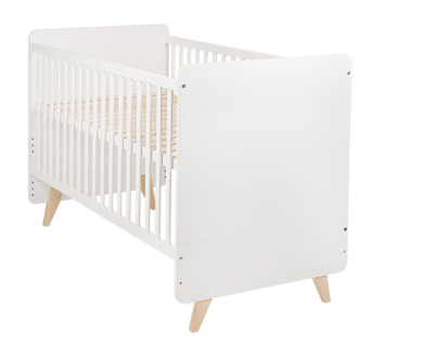 Quax Loft bed 70x140 wit/naturel beuken