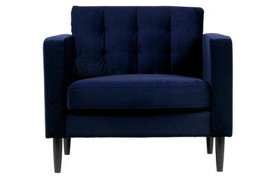 Woood Livia fauteuil nachtblauw