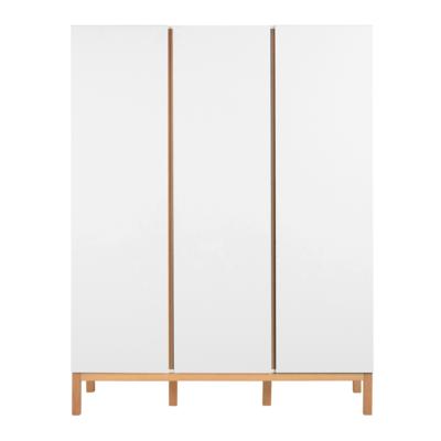 Quax Indigo kledingkast 3 deuren wit/naturel beuken