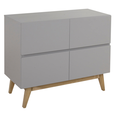 Quax Trendy commode 4 laden griffin grey