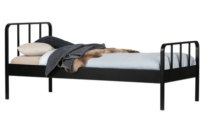 woood Mees bed zwart 90x200