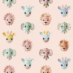 Studio Ditte behang Wilde dieren roze