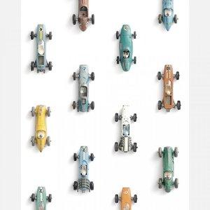 Studio Ditte behang raceauto wit