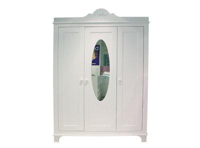 Bopita romantic deurs kleding kast met spiegel wit