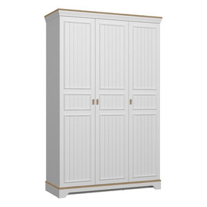 Almila Monte 3-deurs kledingkast wit