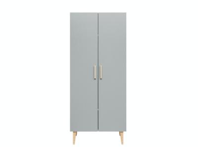 Bopita Emma 2 deurs kledingkast wit/grijs