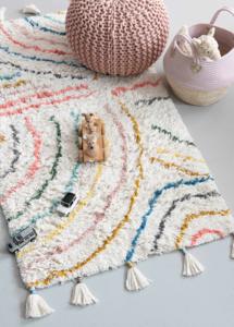 Kidsdepot berber vloerkleed pastel
