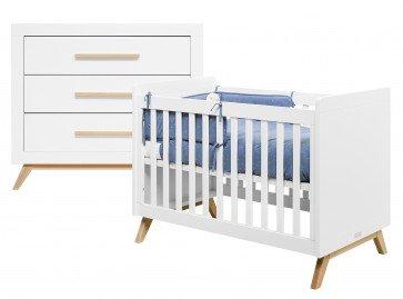 Bopita Fenna 2-delige babykamer Wit-Naturel
