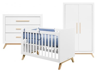 Bopita Fenna 3-delige babykamer Wit-Naturel
