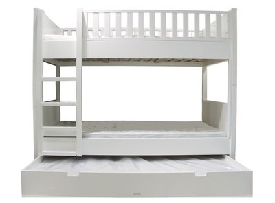 Bopita nordic stapelbed 90x200 wit kinderbeddenstore - Stapelbed met opslag trappen ...