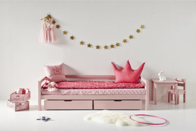 Hoppekids Basic sofabed 90x200 Pale rose