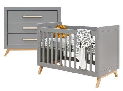 fenna 2-delige babykamer grijs