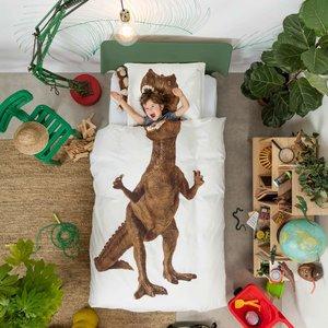 Snurk dekbedovertrek Dino brown 140x200/220cm