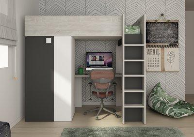 trasman studio bed antraciet