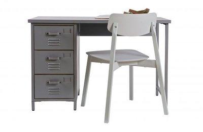 Woood max bureau metaal grijs kinderbeddenstore for Bureau 60x120