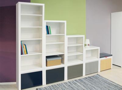 Bopita kobe 200 boekenkast met lade wit kinderbeddenstore
