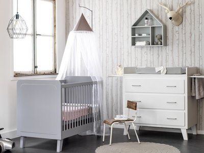 Coming kids scandi design ledikant 60x120 grijs for Ledikant grijs