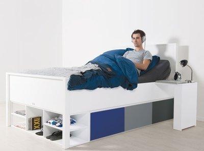 bopita mix en match delta xl bed 120x200 wit kinderbeddenstore. Black Bedroom Furniture Sets. Home Design Ideas