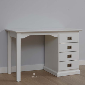 Alta 5468 bureau grenenhout wit kinderbeddenstore for Bureau 60x120