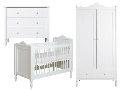 Bopita Belle 3 delige babykamer wit - Kinderbeddenstore