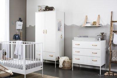 Babykamer Wit Met Hout.Coming Kids Bliss Babyledikant 60x120 Wit Kinderbeddenstore