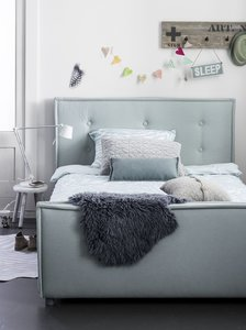 Bedden Voor Kids.Coming Kids Sun Luxe Gestoffeerd Twijfelaar Bed 140x200