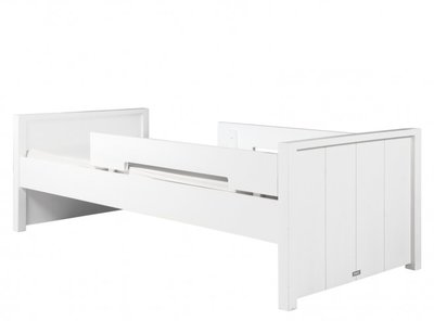 bopit basic wood bed met uitval white wash