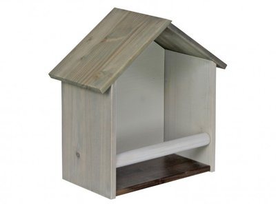 basic wood vogelhuisje
