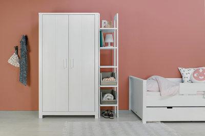 White Wash Kast : Bopita basic wood deurs kleding kast white wash kinderbeddenstore