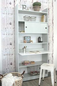 Coming kids Morris bureau / boekenkast in één mint-wit ...