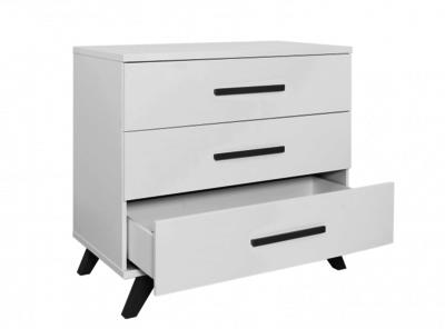 Commode Wit Bopita.Bopita Levi Design Commode 3 Lade Wit Grey